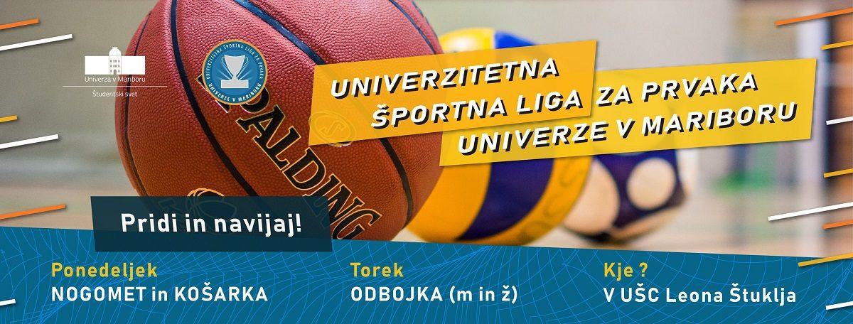Zastopaj svojo fakulteto v Univerzitetni športni ligi za prvaka Univerze v Mariboru!