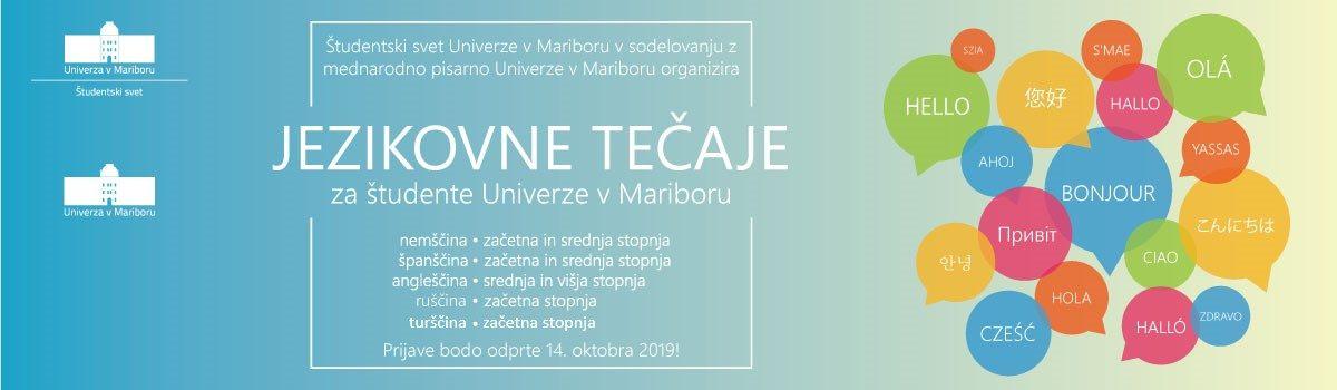 Jezikovni tečaji Študentskega sveta Univerze v Mariboru v zimskem semestru 2019/20