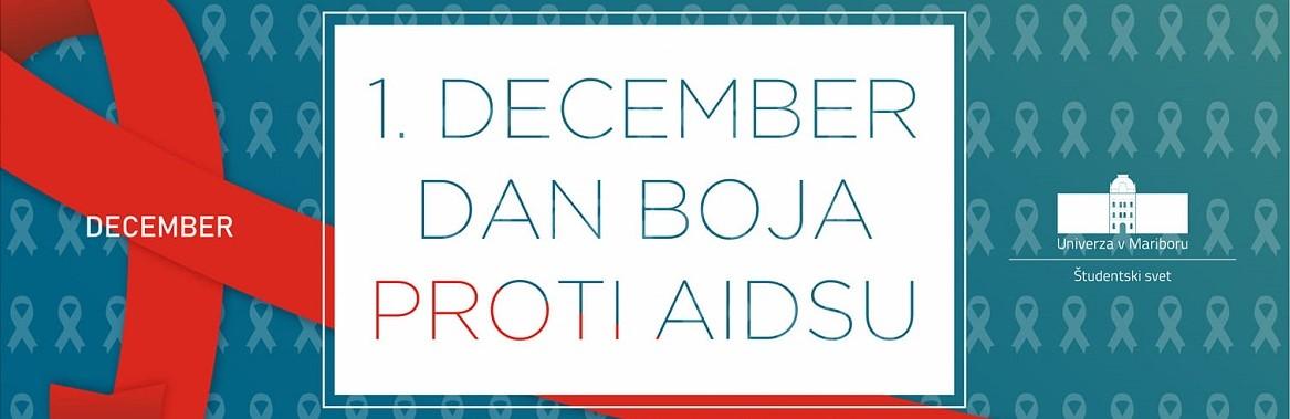 1. december – svetovni dan boja proti aidsu