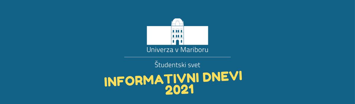 Informativni dnevi Univerze v Mariboru 2021