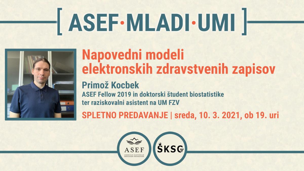 Dogodek: Napovedni modeli elektronskih zdravstvenih zapisov (ASEF MLADI UMI)